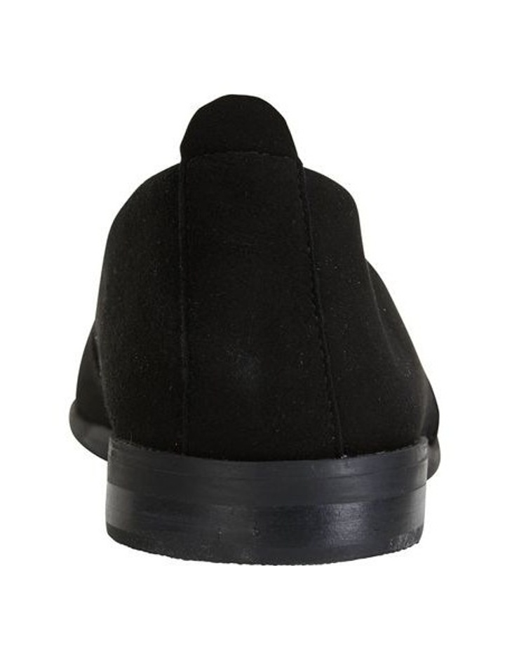 Kelly Black Suede Flat Shoes image 6