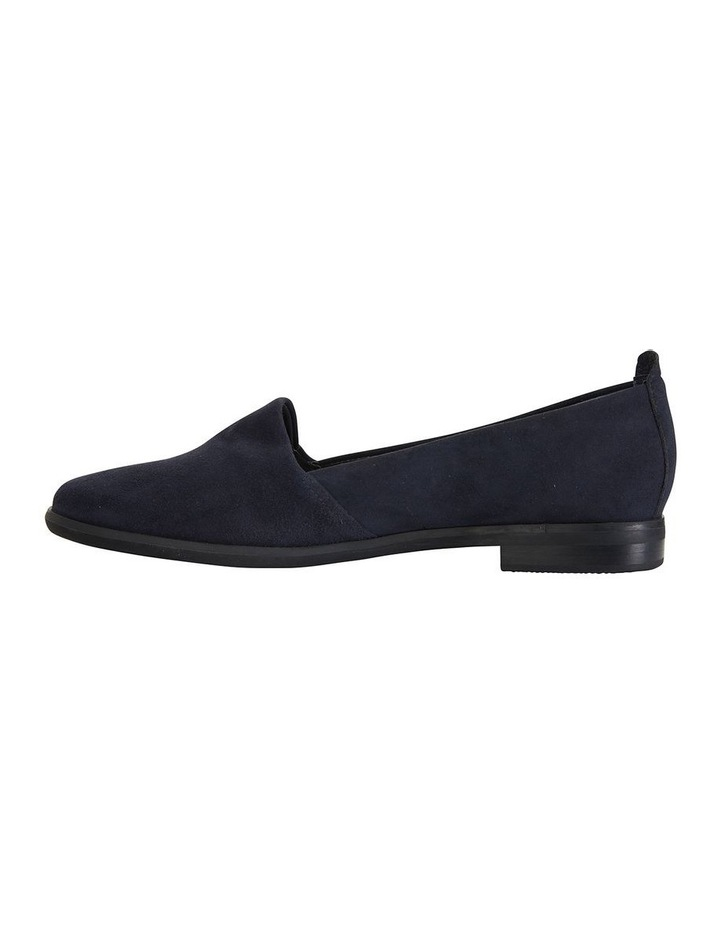 Kelly Navy Suede Flat Shoes image 3