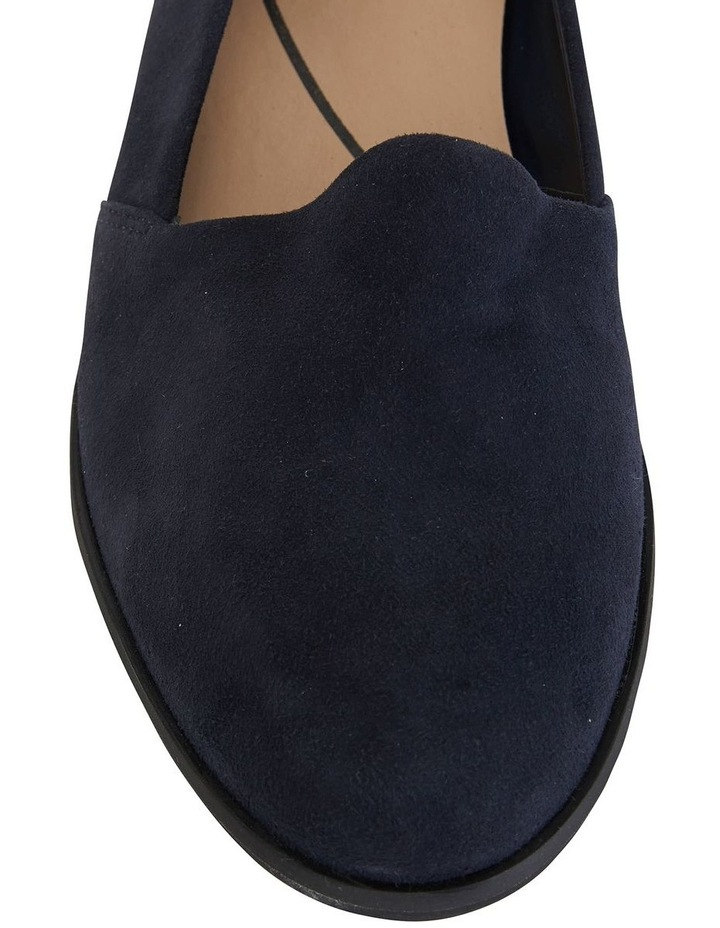 Kelly Navy Suede Flat Shoes image 7