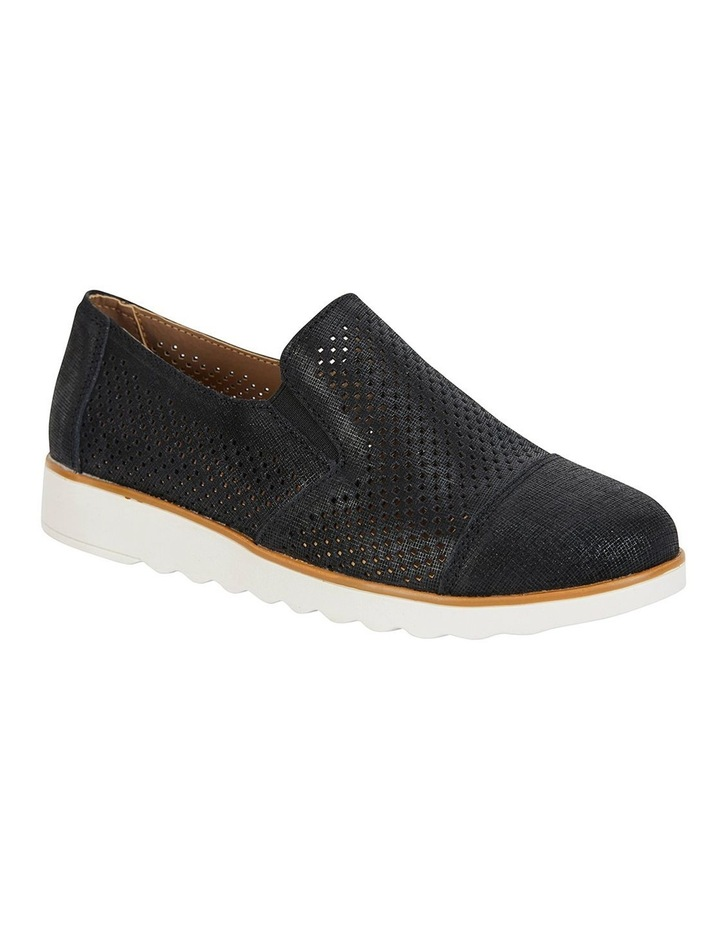 Davis Black Combo Flat Shoes image 2
