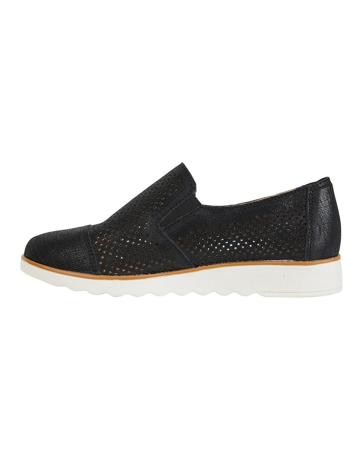 Davis Black Combo Flat Shoes image 3