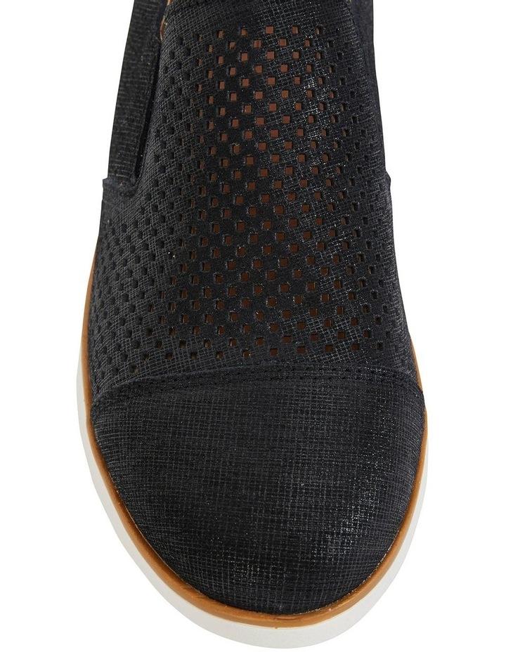 Davis Black Combo Flat Shoes image 7