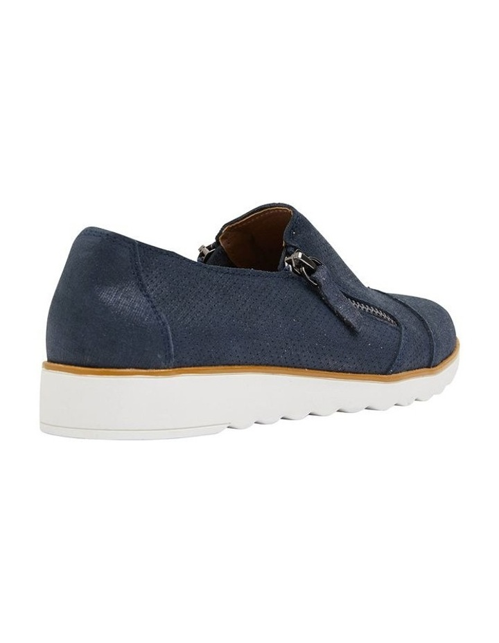 Dean Navy Combo Flat Shoes image 4