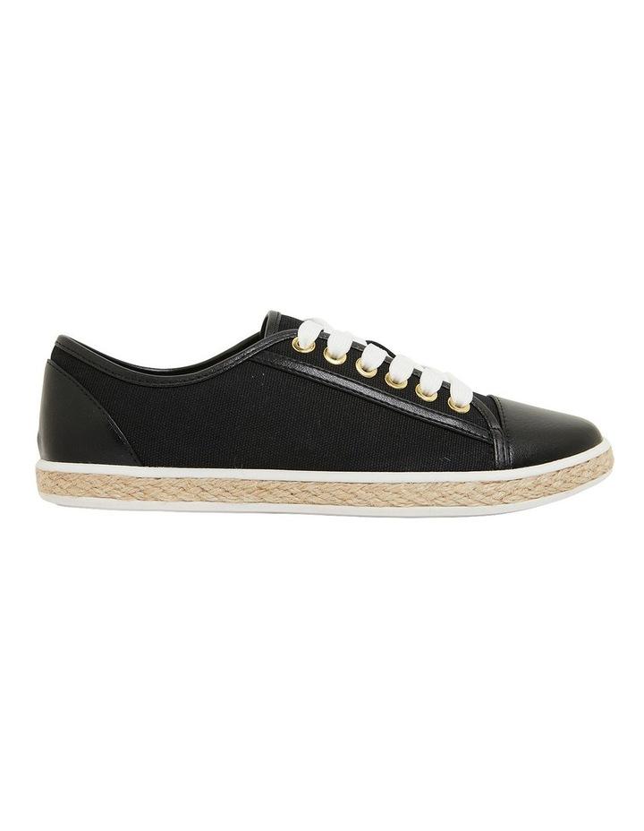 Yale Black Smooth Flat Shoes image 1