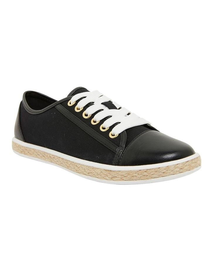 Yale Black Smooth Flat Shoes image 2