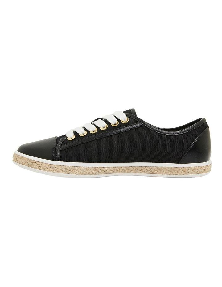 Yale Black Smooth Flat Shoes image 3