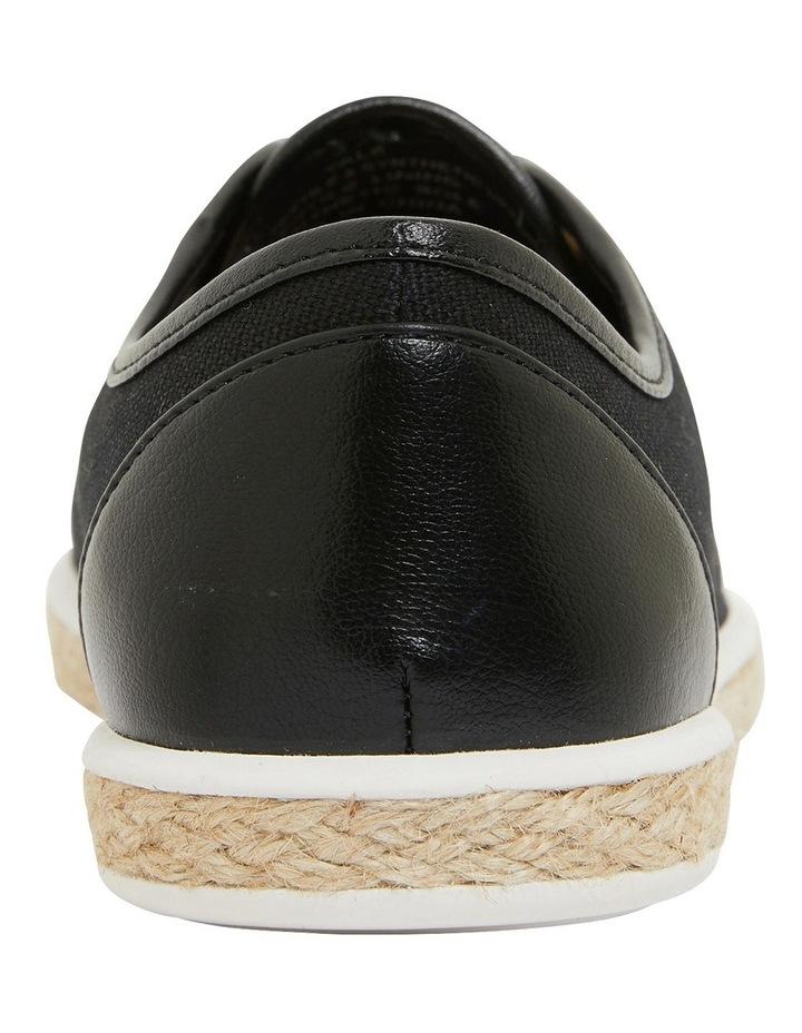 Yale Black Smooth Flat Shoes image 5
