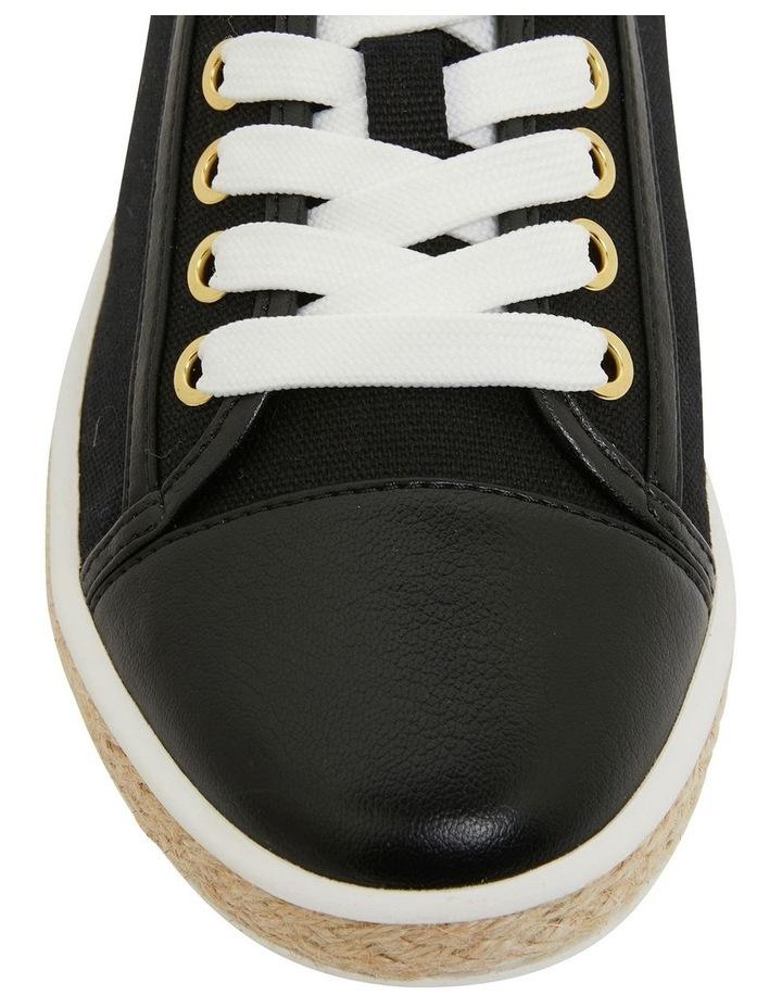 Yale Black Smooth Flat Shoes image 6