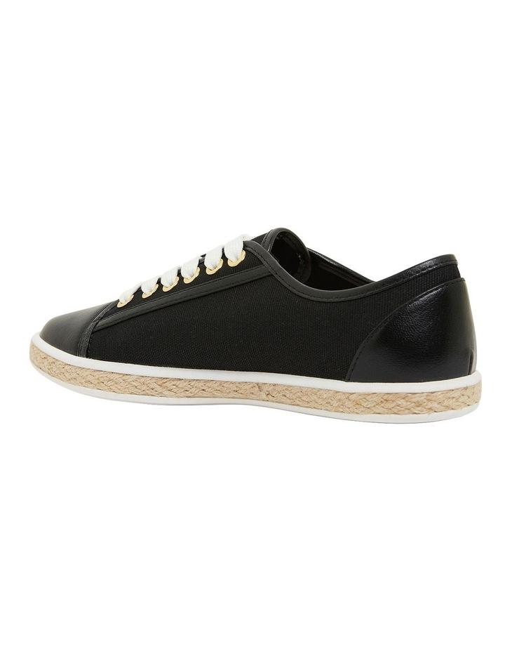 Yale Black Smooth Flat Shoes image 7