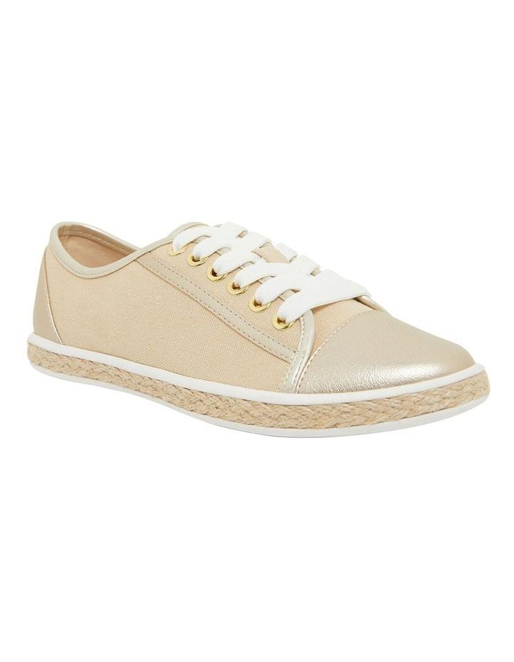 Yale Gold Smooth Flat Shoes image 2