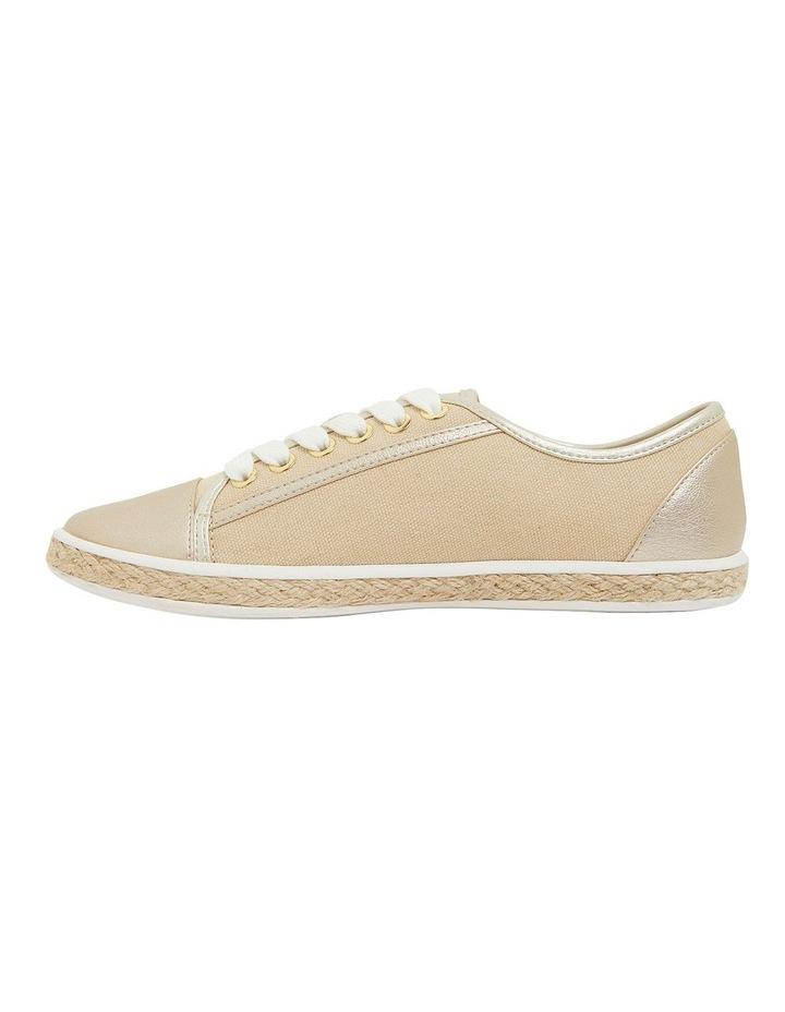 Yale Gold Smooth Flat Shoes image 3