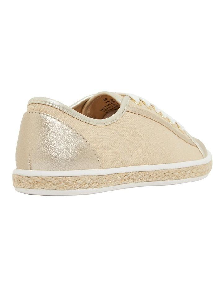 Yale Gold Smooth Flat Shoes image 4