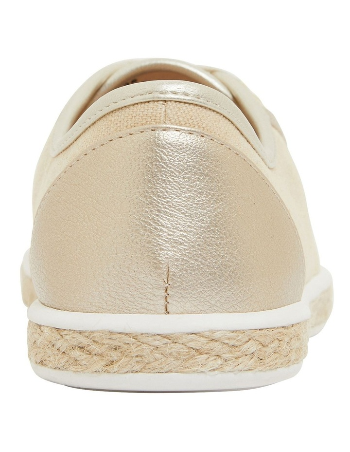 Yale Gold Smooth Flat Shoes image 5