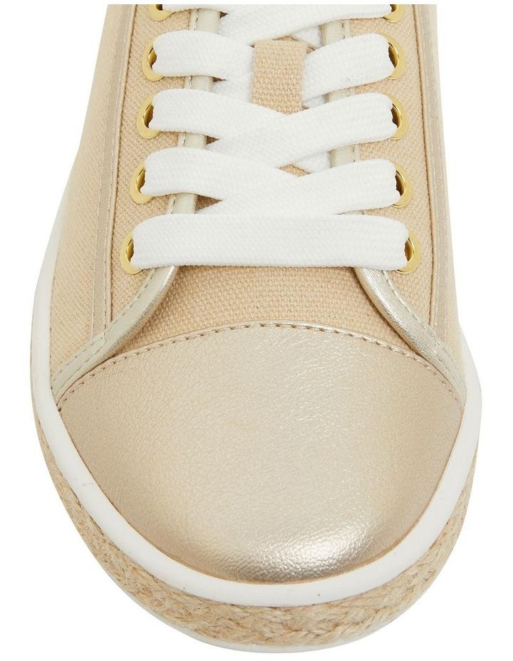 Yale Gold Smooth Flat Shoes image 6