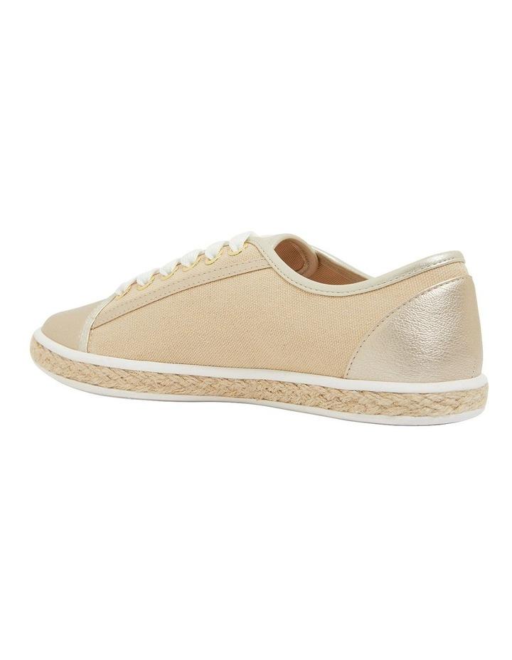 Yale Gold Smooth Flat Shoes image 7