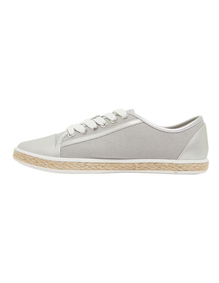 Yale Silver Smooth Flat Shoes image 3