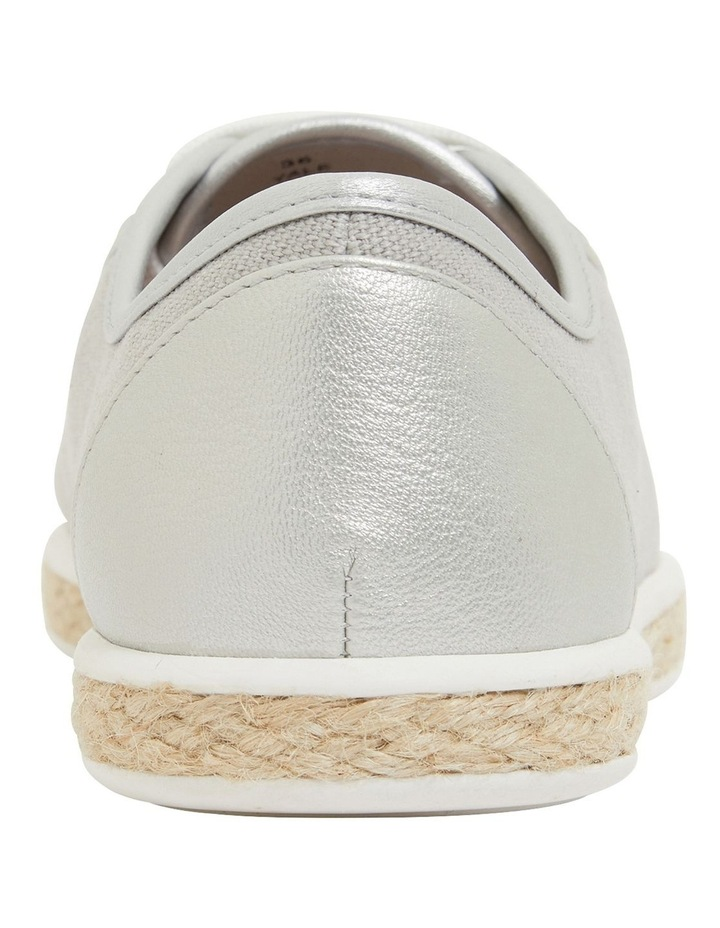 Yale Silver Smooth Flat Shoes image 5