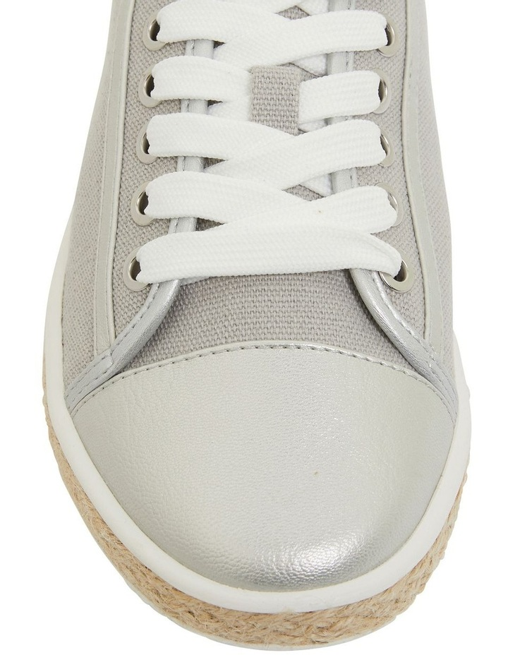 Yale Silver Smooth Flat Shoes image 6