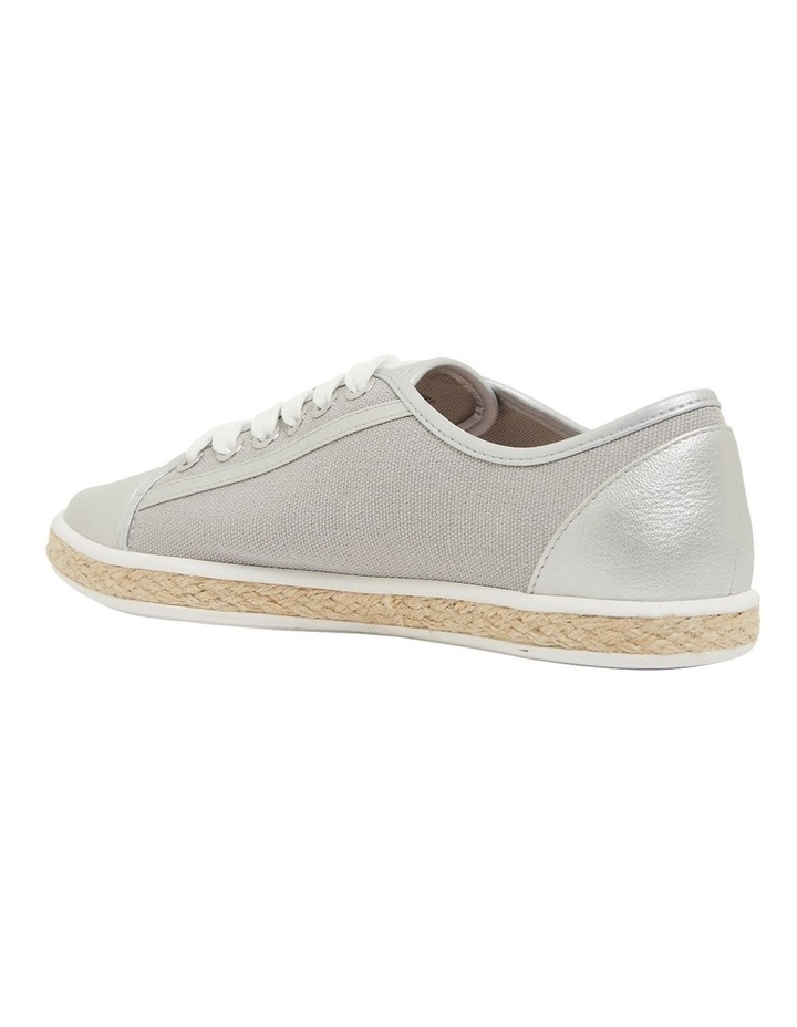 Yale Silver Smooth Flat Shoes image 7