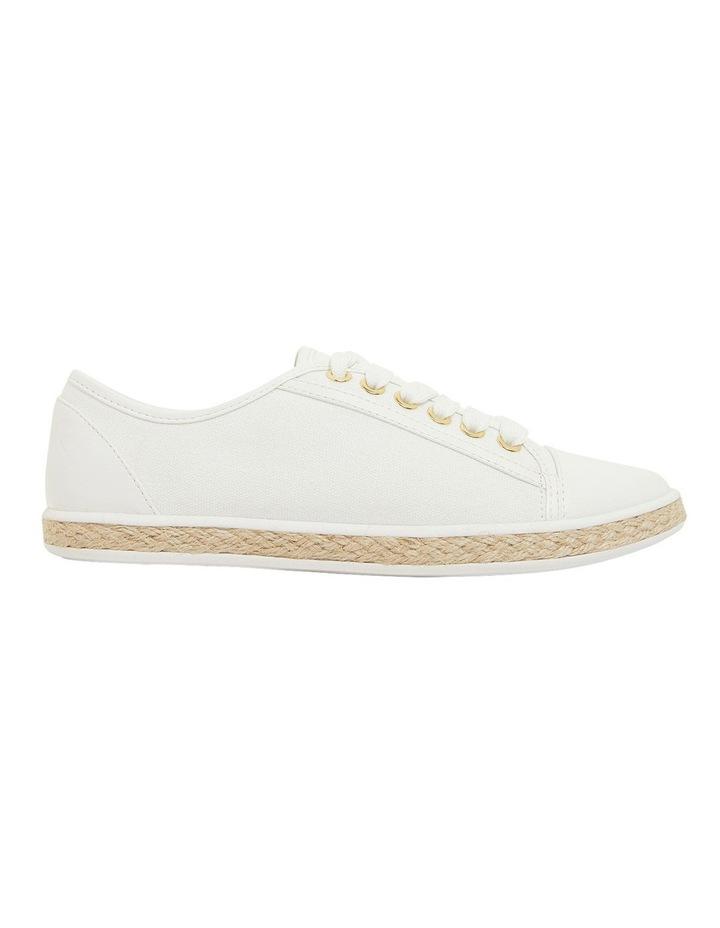 Yale White Smooth Flat Shoes image 1