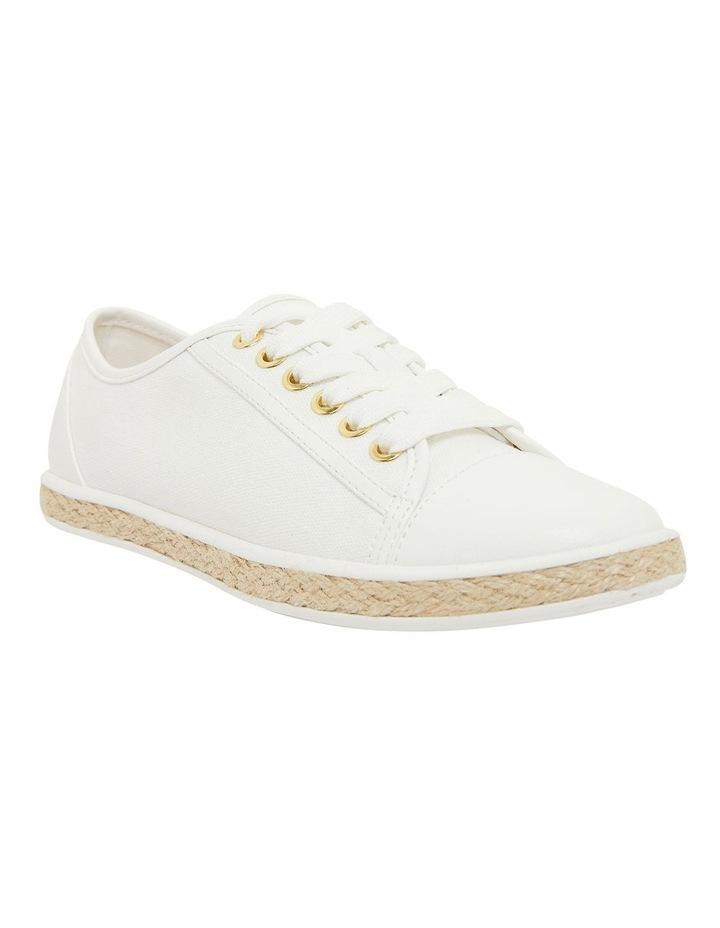 Yale White Smooth Flat Shoes image 2