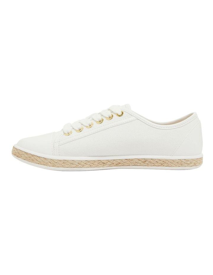Yale White Smooth Flat Shoes image 3