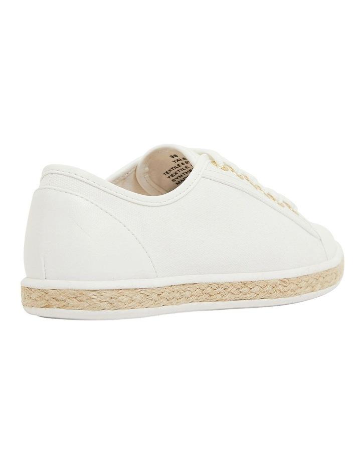 Yale White Smooth Flat Shoes image 4