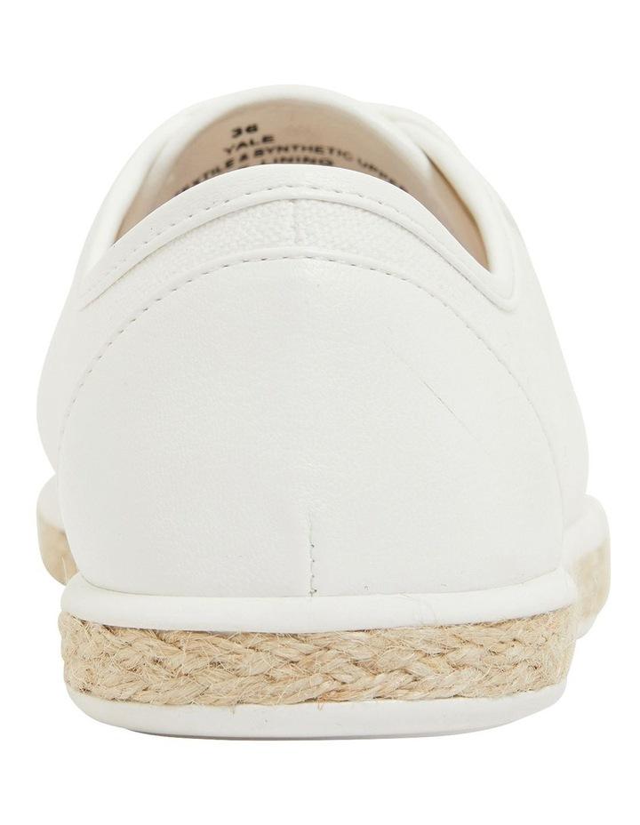Yale White Smooth Flat Shoes image 5