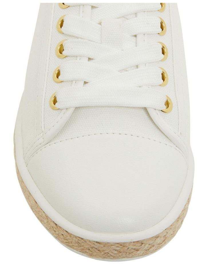 Yale White Smooth Flat Shoes image 6