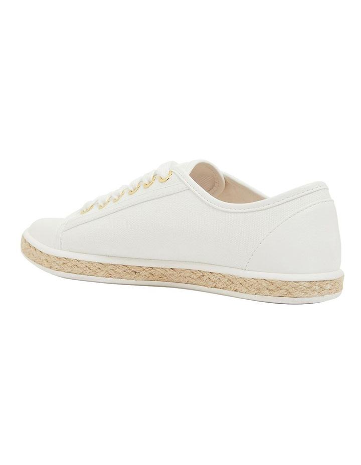 Yale White Smooth Flat Shoes image 7