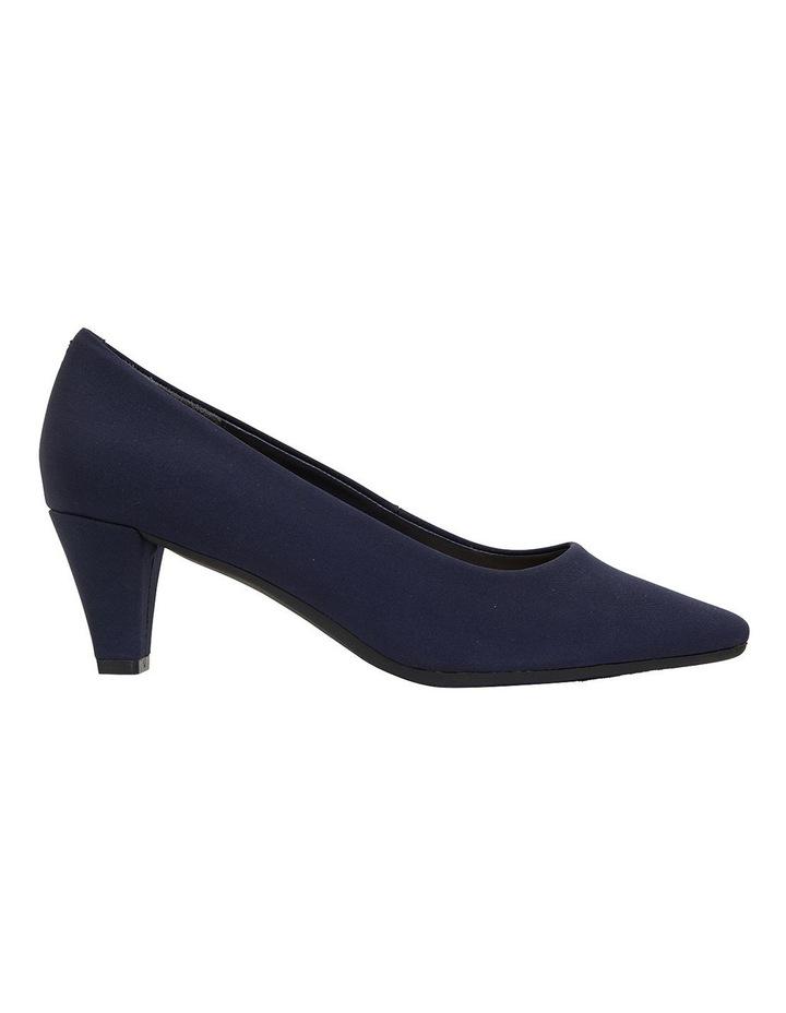 Aiken Navy Fabric Heeled Shoes image 1