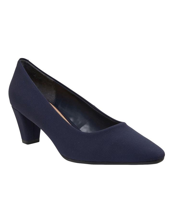 Aiken Navy Fabric Heeled Shoes image 2