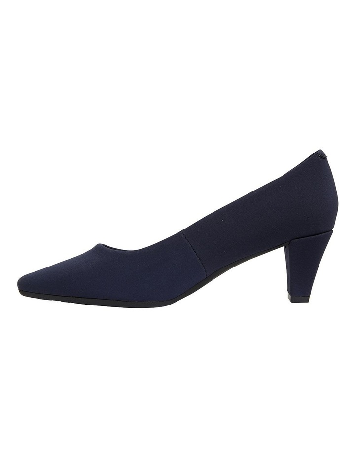 Aiken Navy Fabric Heeled Shoes image 3