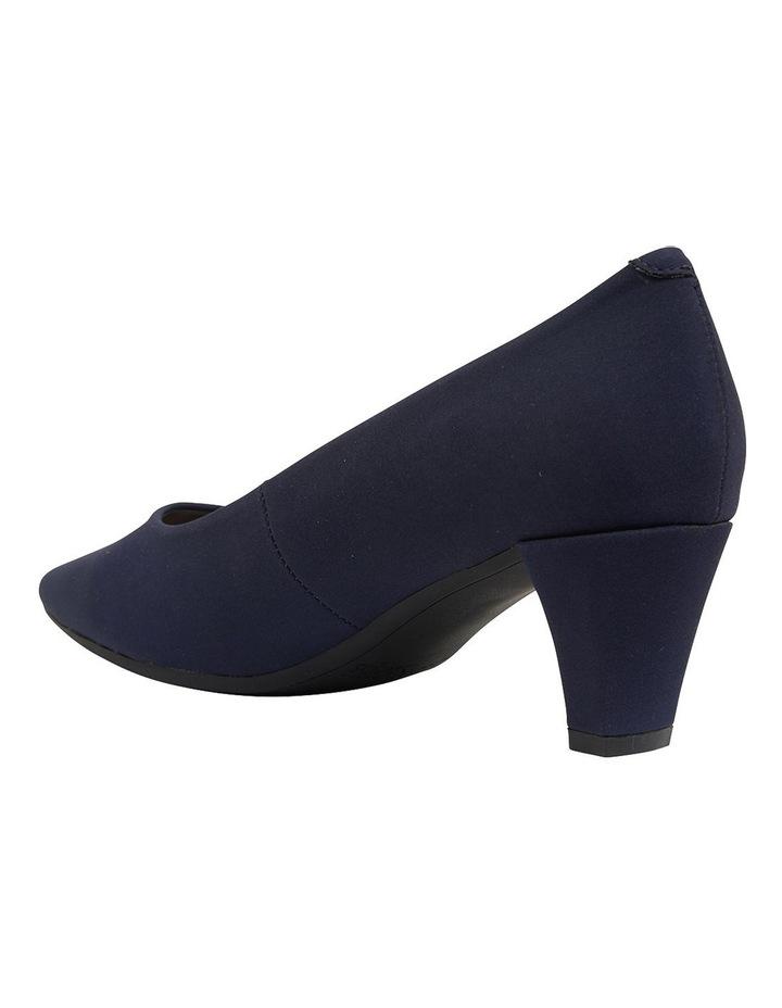 Aiken Navy Fabric Heeled Shoes image 7