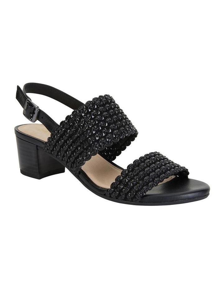 Vintage Black Weave Sandals image 2