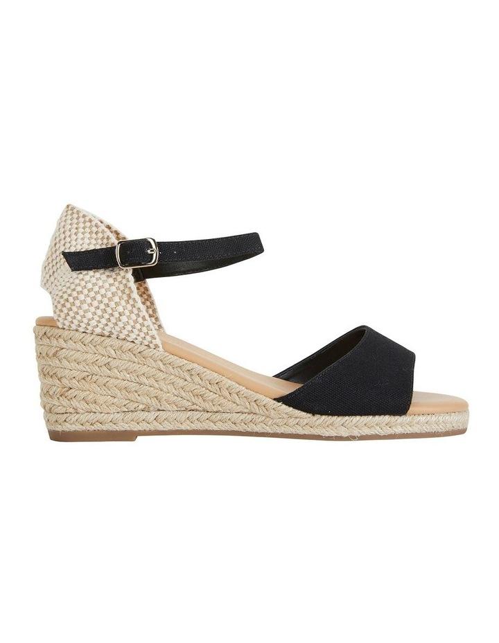 Safari Black Fabric Sandals image 1