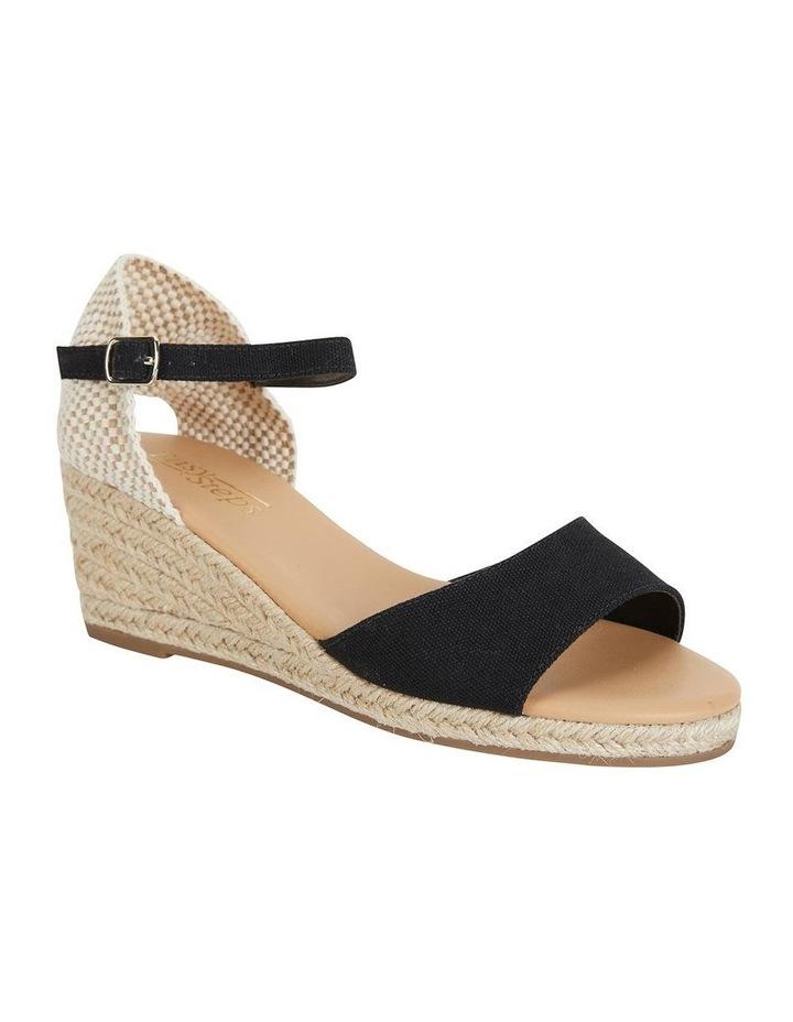 Safari Black Fabric Sandals image 2