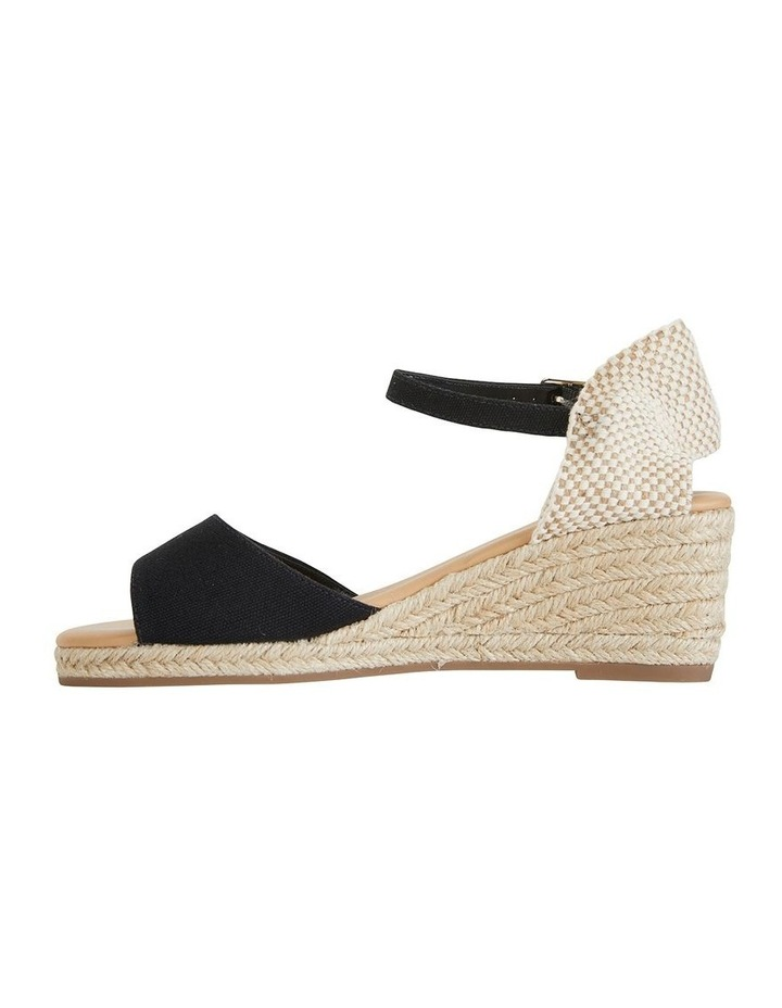 Safari Black Fabric Sandals image 3