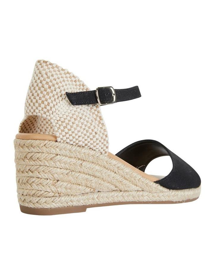 Safari Black Fabric Sandals image 4