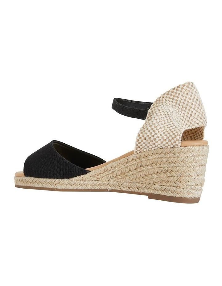 Safari Black Fabric Sandals image 5