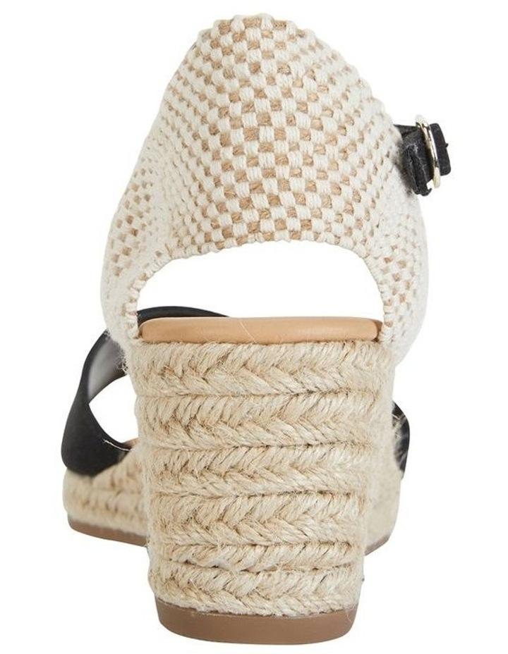 Safari Black Fabric Sandals image 6
