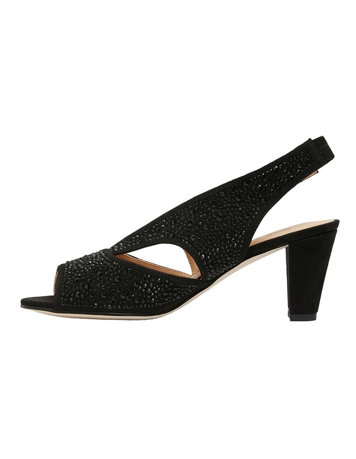 Angie Black Fabric Sandal image 3