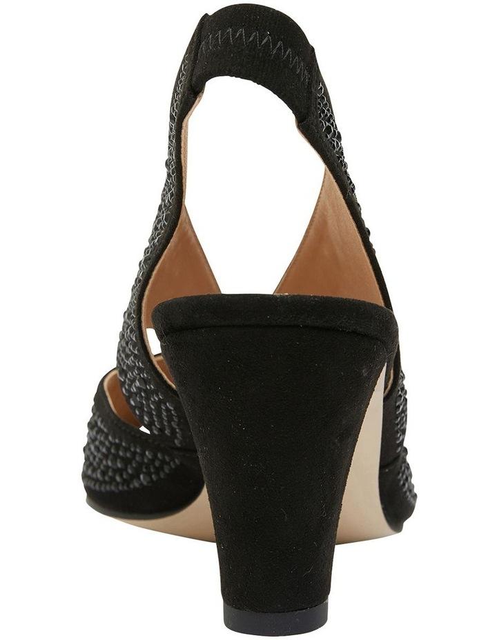 Angie Black Fabric Sandal image 4