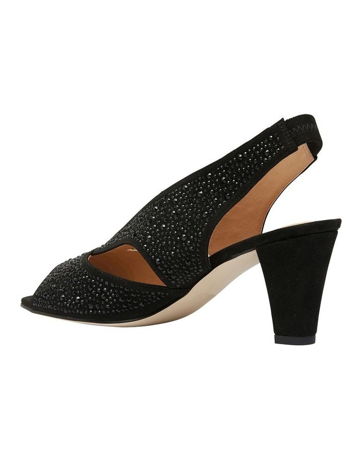 Angie Black Fabric Sandal image 5