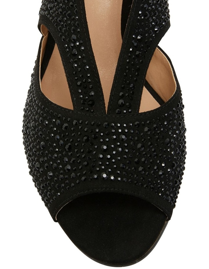 Angie Black Fabric Sandal image 6