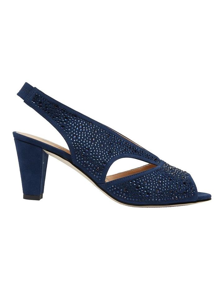 Angie Navy Fabric Sandal image 1