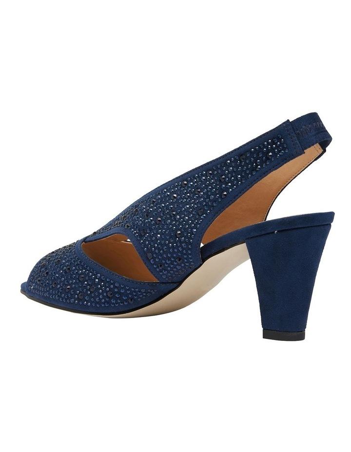 Angie Navy Fabric Sandal image 5