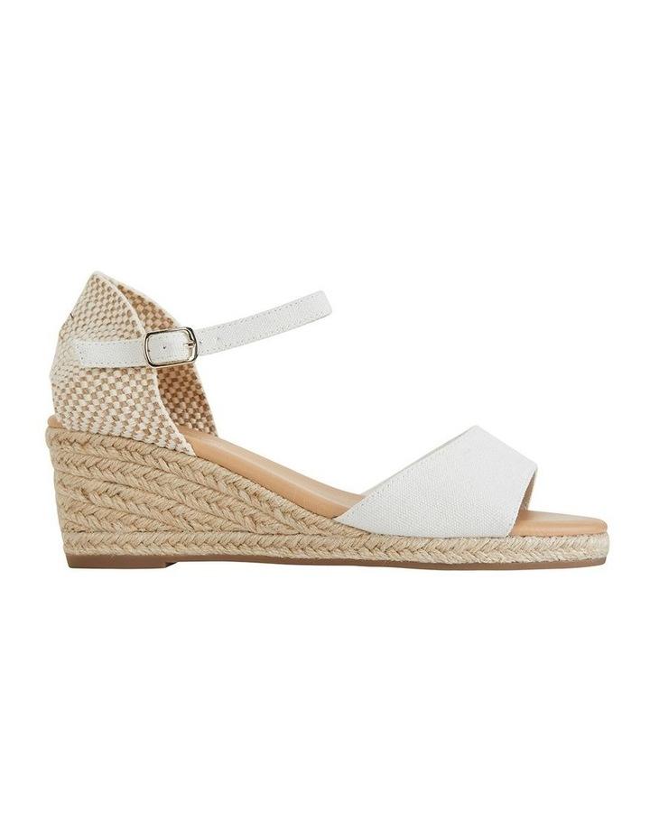 Safari White Fabric Sandals image 1
