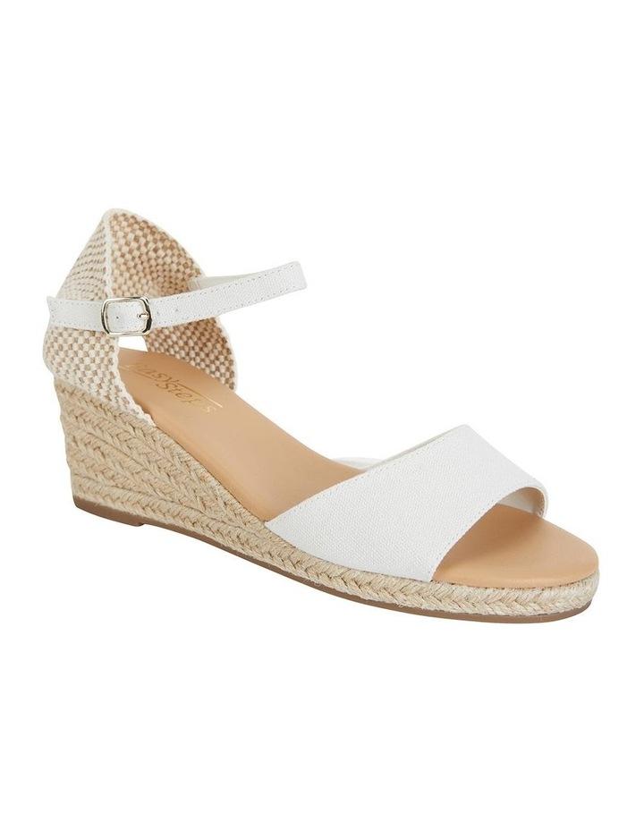 Safari White Fabric Sandals image 2