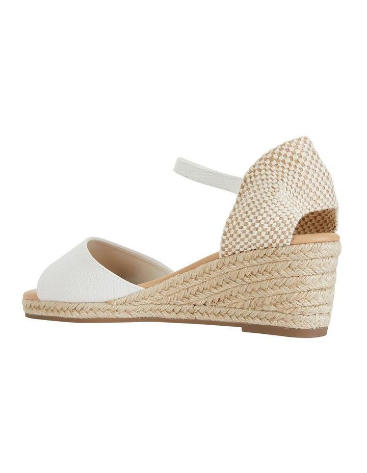Safari White Fabric Sandals image 4